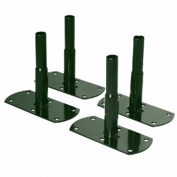 Fixation pour arche - Pack 4 pieds à visser Vert sapin